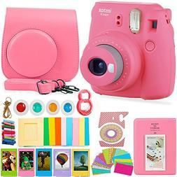 FujiFilm Instax Mini 9 Camera and Accessories Bundle - Insta