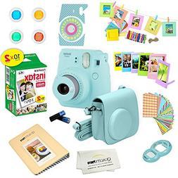 Fujifilm Instax Mini 9 Instant Camera ICE BLUE w/ Film and A