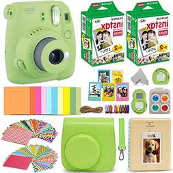 Fujifilm Instax Mini 9 Instant Camera Lime Green + Fuji INST