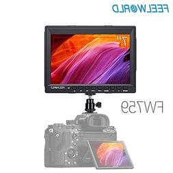 FEELWORLD FW759 DSLR Camera Field Monitor HD Video Assist 7