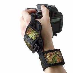 Professional Camera Grip Hand Strap with Camouflage Woods Pa
