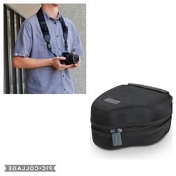 USA GEAR Hard Shell DSLR Camera Case & free strap