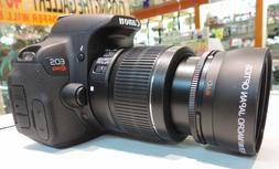 HD 8K ZOOM LENS FOR CANON EOS REBEL SL2 SL3 DSLR CAMERAS WIT