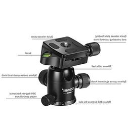 ZOMEI Heavy Duty Photography Camera Tripod Ball Head 360 Deg