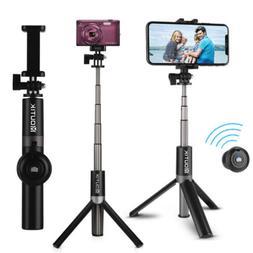 "Heavy Duty Selfie Stick MonoPod Extend 27"" Bluetooth -iPhone"