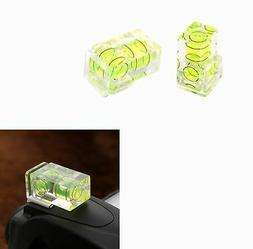 Hot Shoe Two Axis Double Bubble Spirit Level Mount for Camer