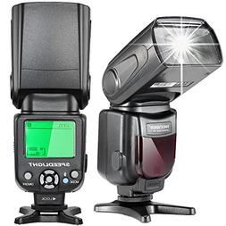 Neewer i-TTL Speedlite Flash with LCD Display, Hard Diffuser