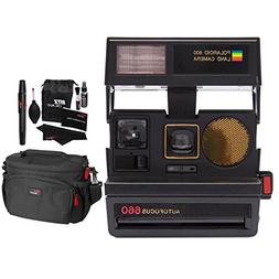 Impossible Polaroid 600 Sun 660 AF Camera, Black , Ritz Gear
