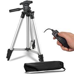 """50"""" Inch Lightweight Aluminum Camera Tripod + Remote Shutter"""