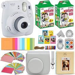 Fujifilm Instax Mini 9 Instant Camera, Smokey White+ 40 Shee