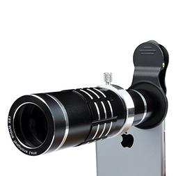 iPhone Lens 18X Telephoto Lens with Flexible Tripod and Univ