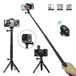 JPARR Extendable Mini Selfie Stick with Tripod and Wireless
