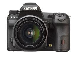 Pentax K-3 lens kit w/ 18-55mm WR 24MP SLR Camera with 3.2-I
