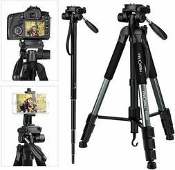 "K&F Concept 70"" Portable Aluminum Camera Tripod Monopod Pan"