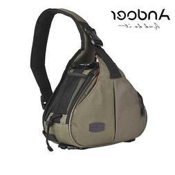 Andoer K1 Triangle DSLR Cameras Bag Sling Carry Case Waterpr