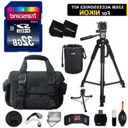 32GB ACCESSORIES Kit for Nikon D5500, D5300, D5200, D3300, D