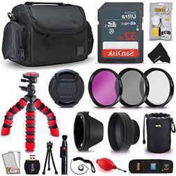Professional 52mm Accessories Kit Bundle for Nikon D3400 D33