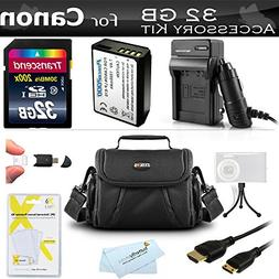 32GB Accessories Bundle Kit For Canon EOS Rebel T5, T3, Cano