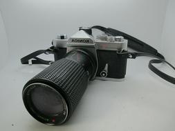 Konica Autoreflex T3 35mm SLR Film Camera w/80-200MM Lens Te
