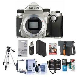 Pentax KP 24MP TTL Autofocus DSLR Camera, Silver With Premiu