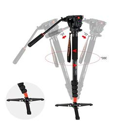 COMAN KX3232 Lightweight Aluminum Monopod Kit, with Q5 Fluid