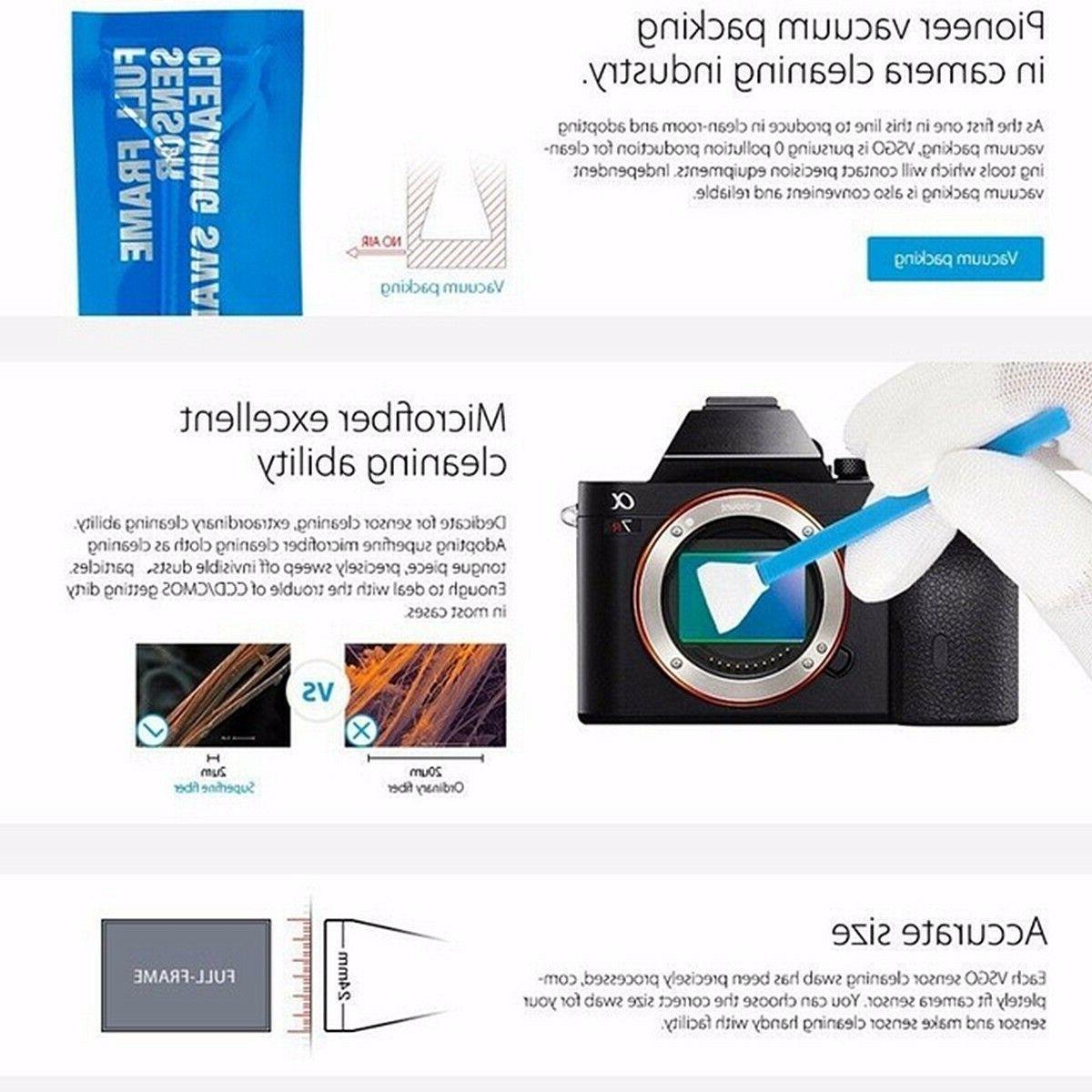 10PCS Sensor Cleaning Kit DSLR Camera
