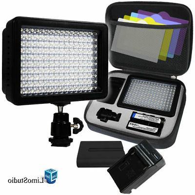 LimoStudio 160 LED Video Light Lamp Panel Dimmable for DSLR