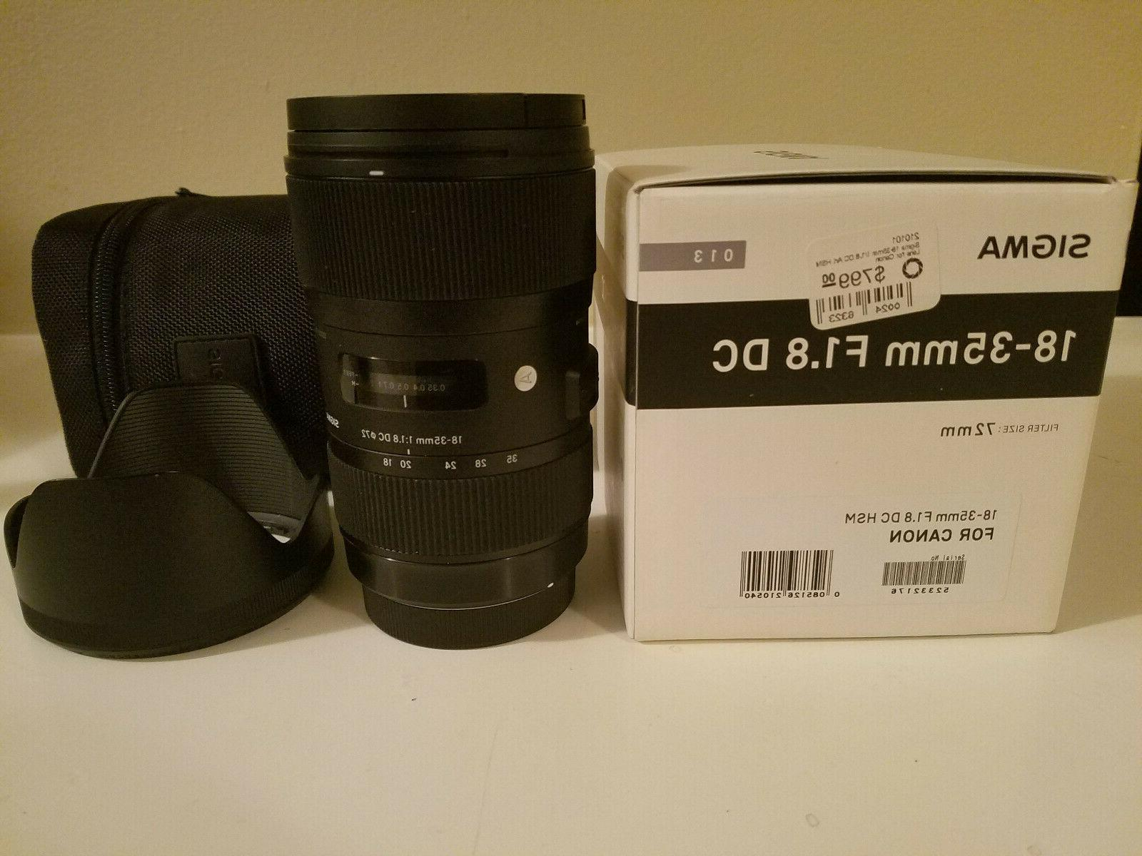 Sigma 18-35mm HSM Lens for APS-C DSLR