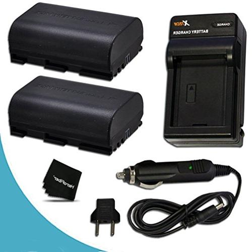 2 LP-E6 Batteries and AC/DC Battery Charger Kit for Canon EO