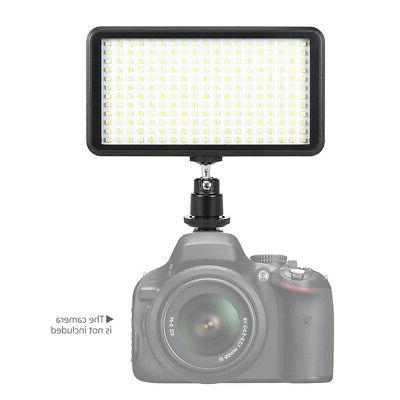 Andoer 228 LED Light Studio Video Light Panel Mount For Cano