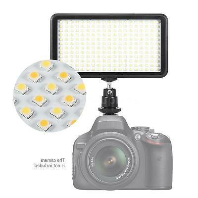 228 LED Video Light Lamp Panel Dimmable 20W 2000LM for DSLR