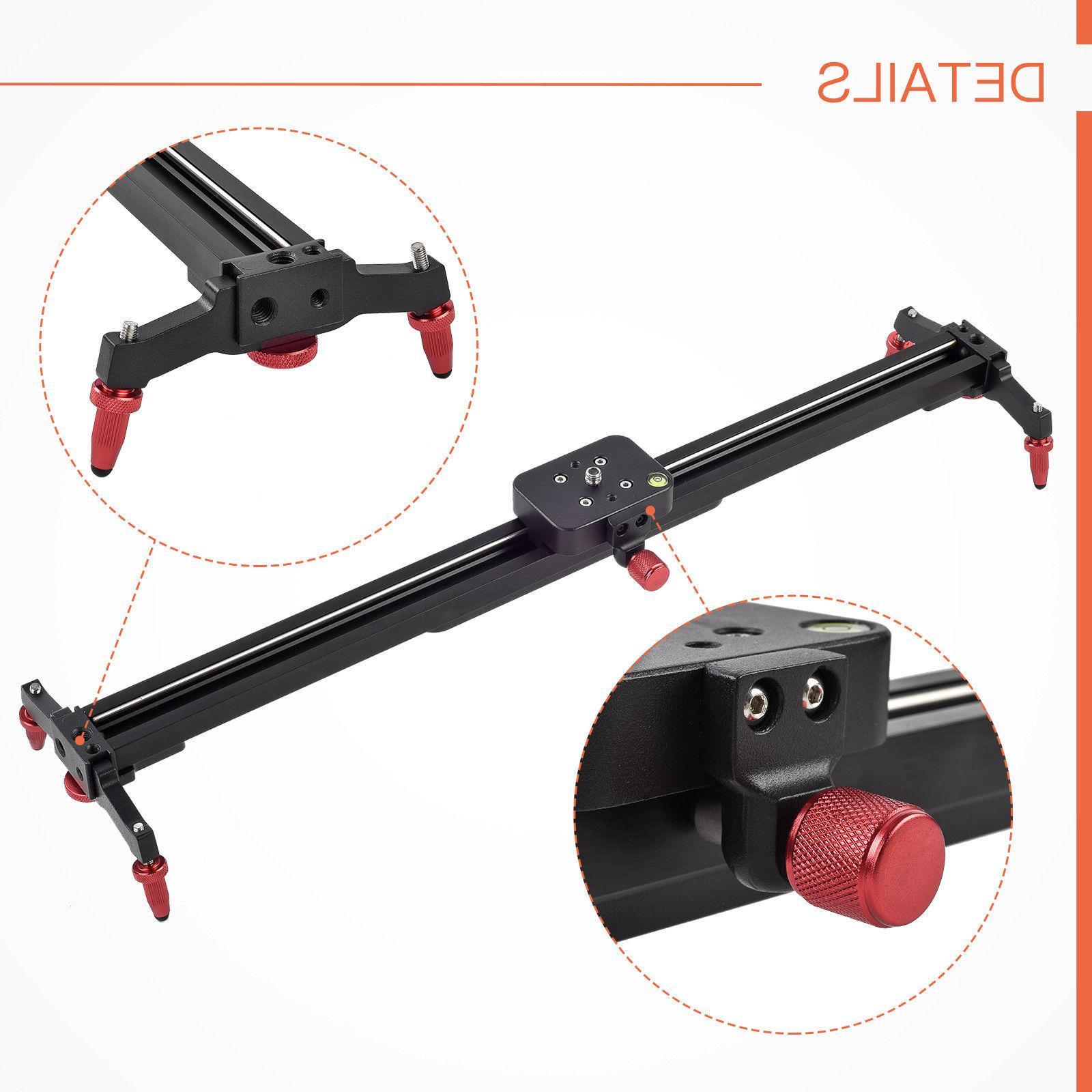 24''/32''/40''/48''DSLR Camera Track Dolly Slider Video Stabilization Rail Track