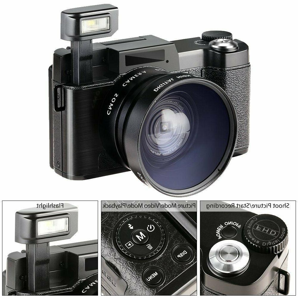 3.0Inch Full 1080P Camera Screen Vlogging Camera