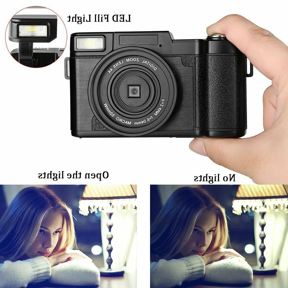 3.0Inch Digital HD 1080P Camera Screen Vlogging