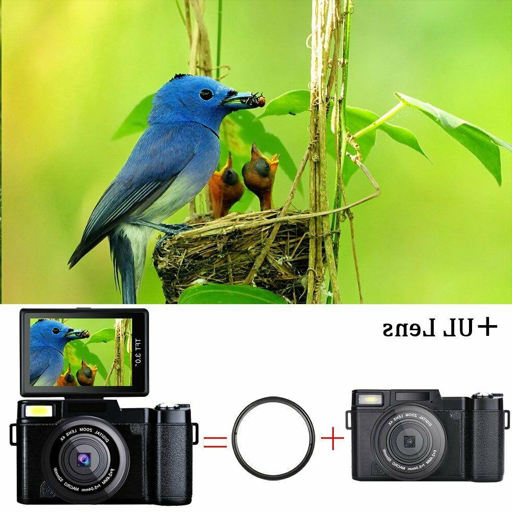 3.0Inch 1080P Video Flip Screen Camera