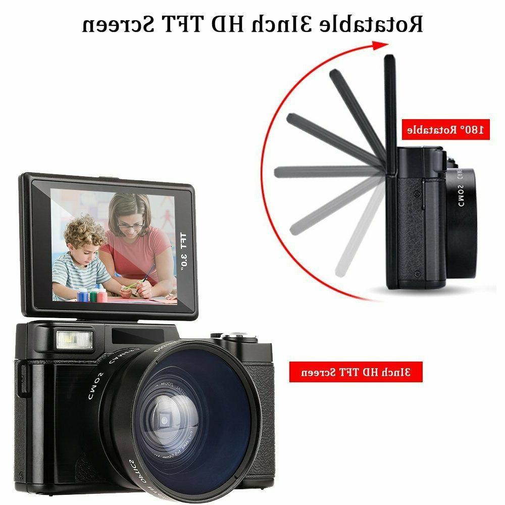3.0Inch 1080P Screen Vlogging Camera