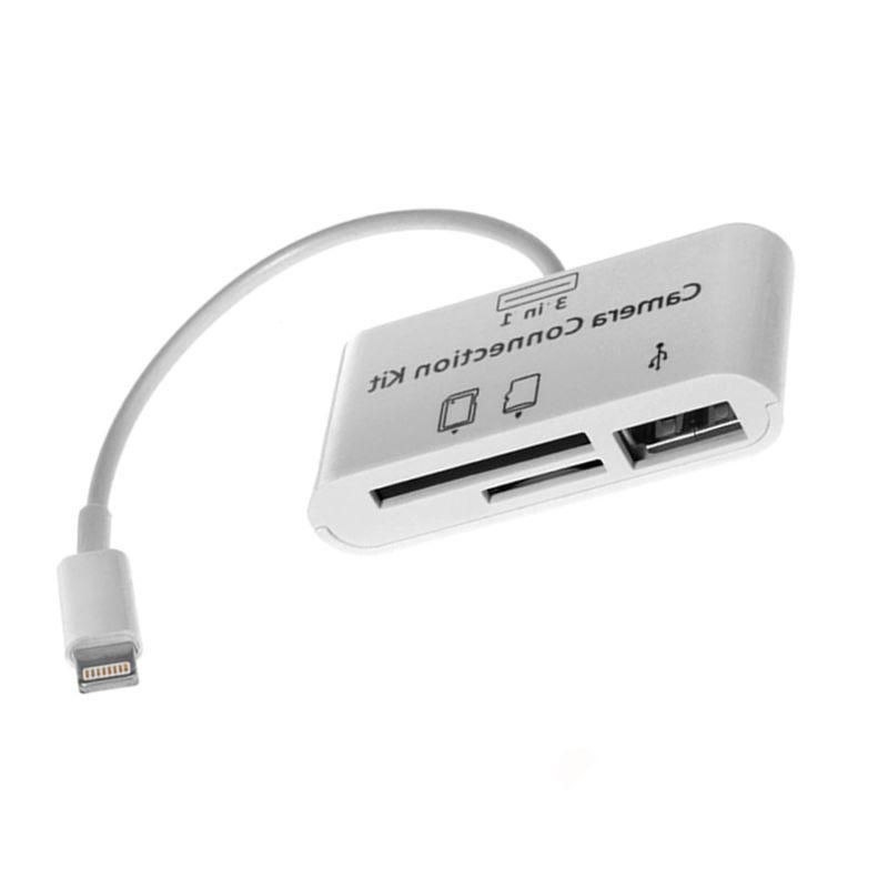 3 Card Reader DSLR Adapter for Apple 7