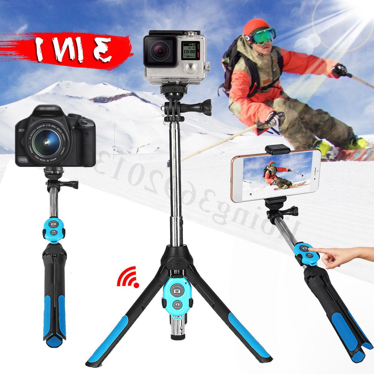 3 in1 telescopic arm selfie stick tripod