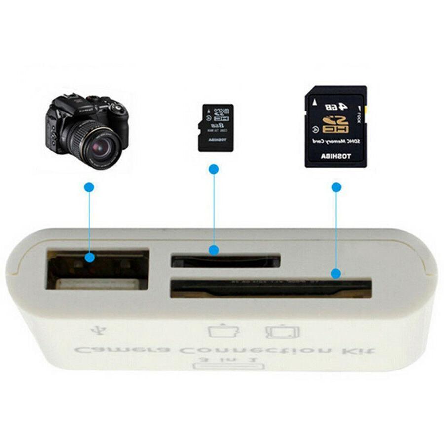 3 in1 USB Card Reader DSLR Adapter reader for iPad