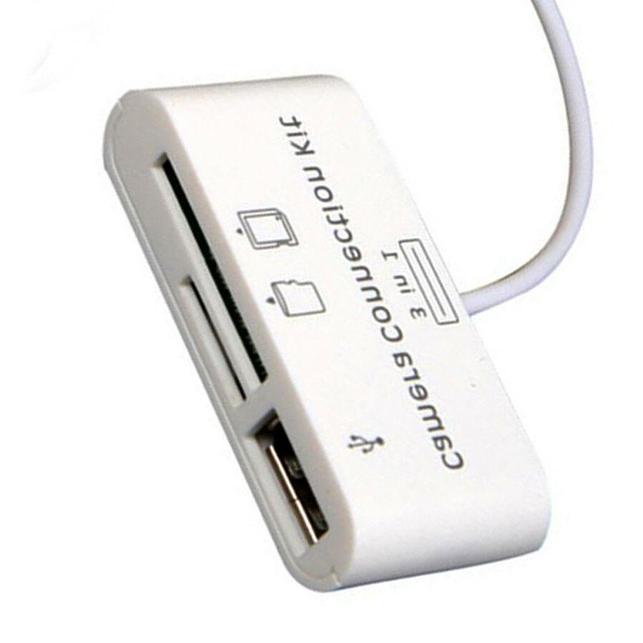 3 in1 Card Reader Micro DSLR for iPad