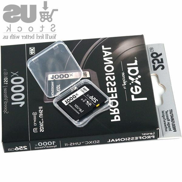 Lexar 32/64/128/256GB UHS-II Memory Card 3D 4K DSLR Camera 150MB/s