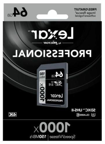32GB SD 1000x UHS-II For 4K Camera