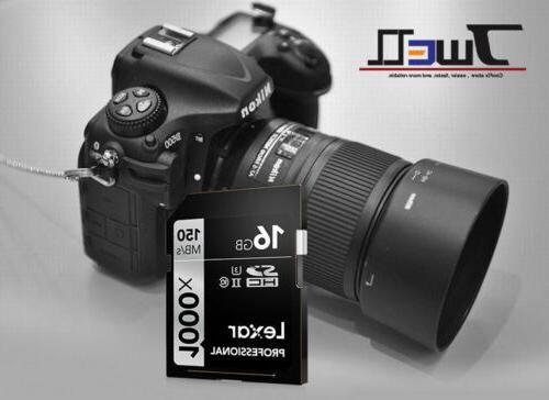32GB 64GB 128GB SD 1000x 150MB/s UHS-II 3D 4K Camera
