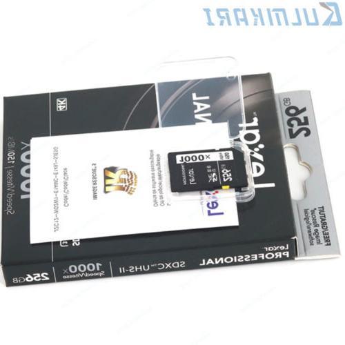 3D 4K 150MB/s SDXC UHS-II Memory Card