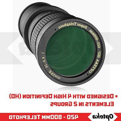 Opteka 420-1600mm Telephoto D5500