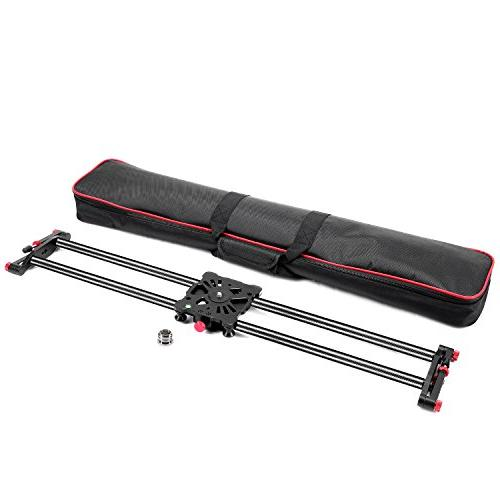 Neewer 47.2 1.2m Fibre Track Slider System 17.5lbs8kg Capacity