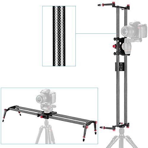 Neewer 47.2 1.2m Carbon Fibre Camera Track Slider 17.5lbs8kg