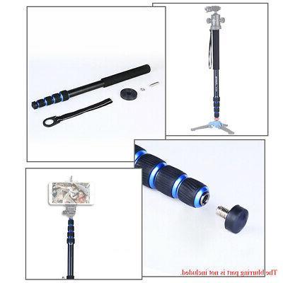 5-Section Fiber Camera Monopod Unipod Stick D4F5
