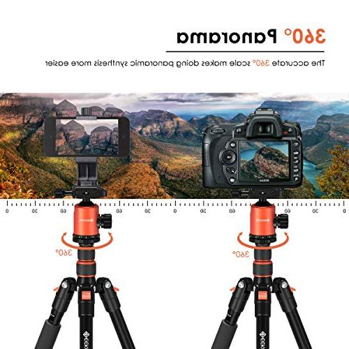"""Geekoto 58"""" Ultra Compact and Lightweight with Head, Camera DSLR, Monopod, OSMO, Ideal for Vlog, Travel and Work"""