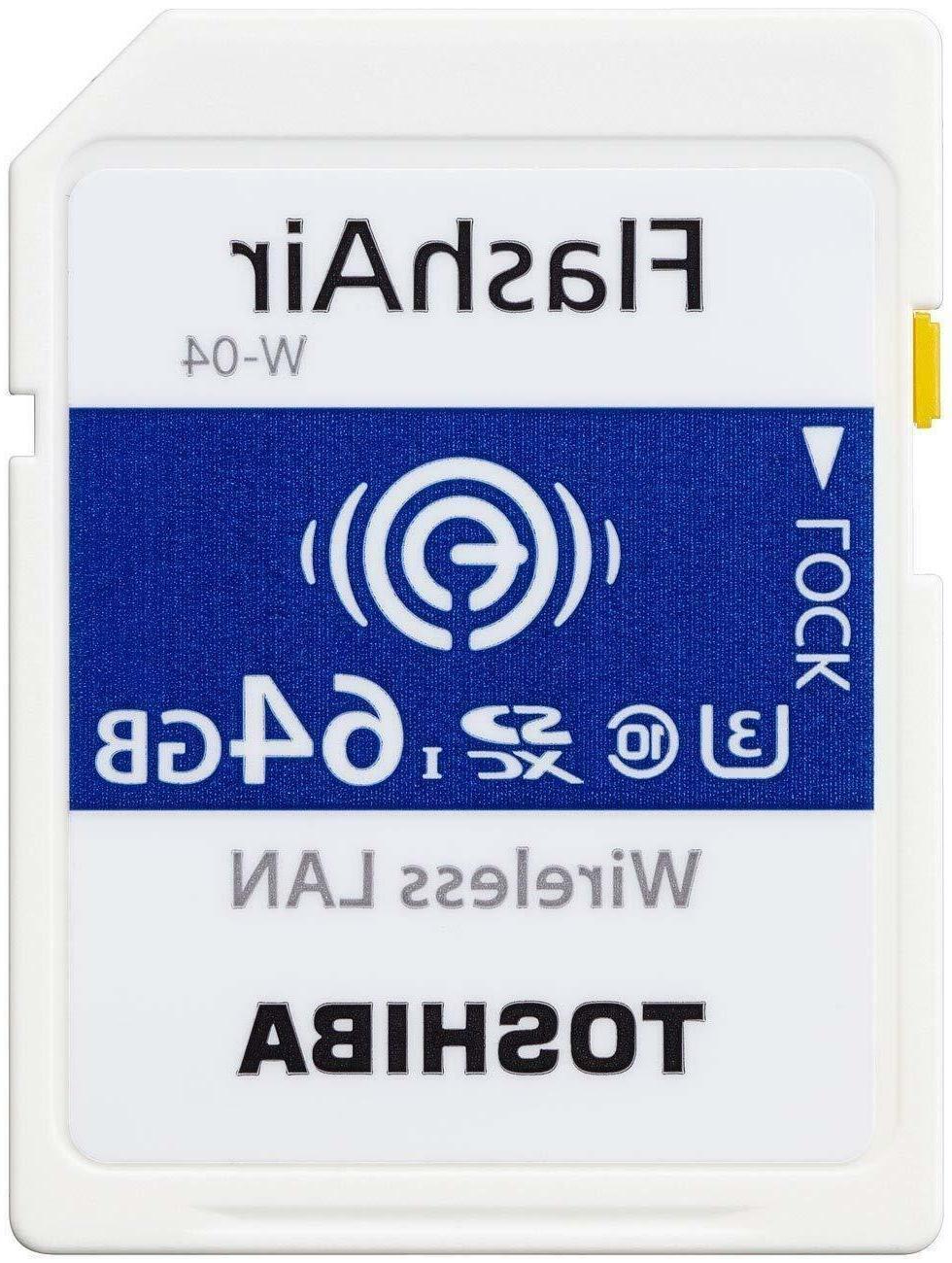 Toshiba 64GB Wireless LAN W-04 SD Camera Card
